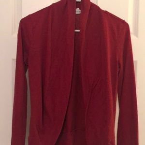 Just a simple red curvy cardigan from Forever 21